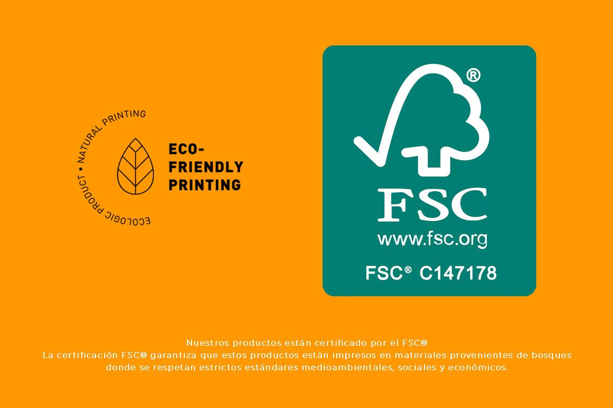 Certificado medioambiental de todas las impresiones