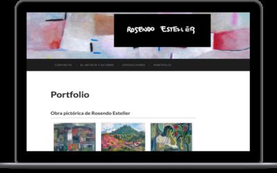 Web del artista Rosendo Esteller
