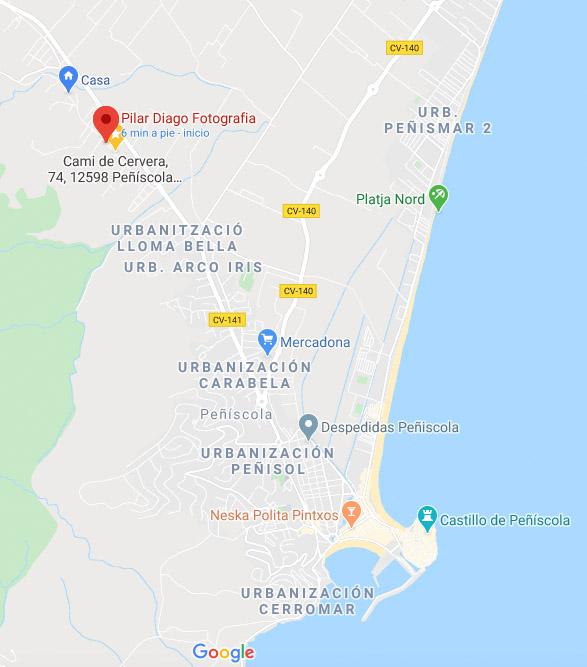 mapa de la ubicación de Pilar Diago