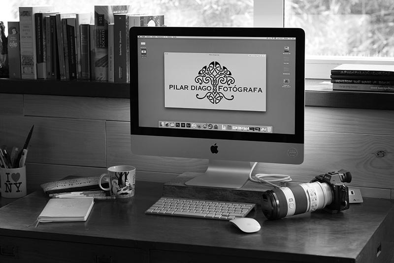 mesa de trabajo de Pilar Diago
